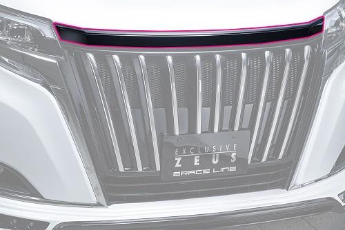 エムズスピード エスクァイア エスクァイアハイブリッド ZRR80G ZWR80G 後期 フードトップモール 未塗装 3173-7132 グレースライン ゼウス
