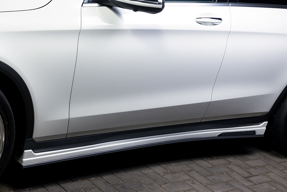 エムズスピード メルセデス ベンツ C253 サイドステップ 未塗装 6691-2110 プルシャンブルー ゼウス