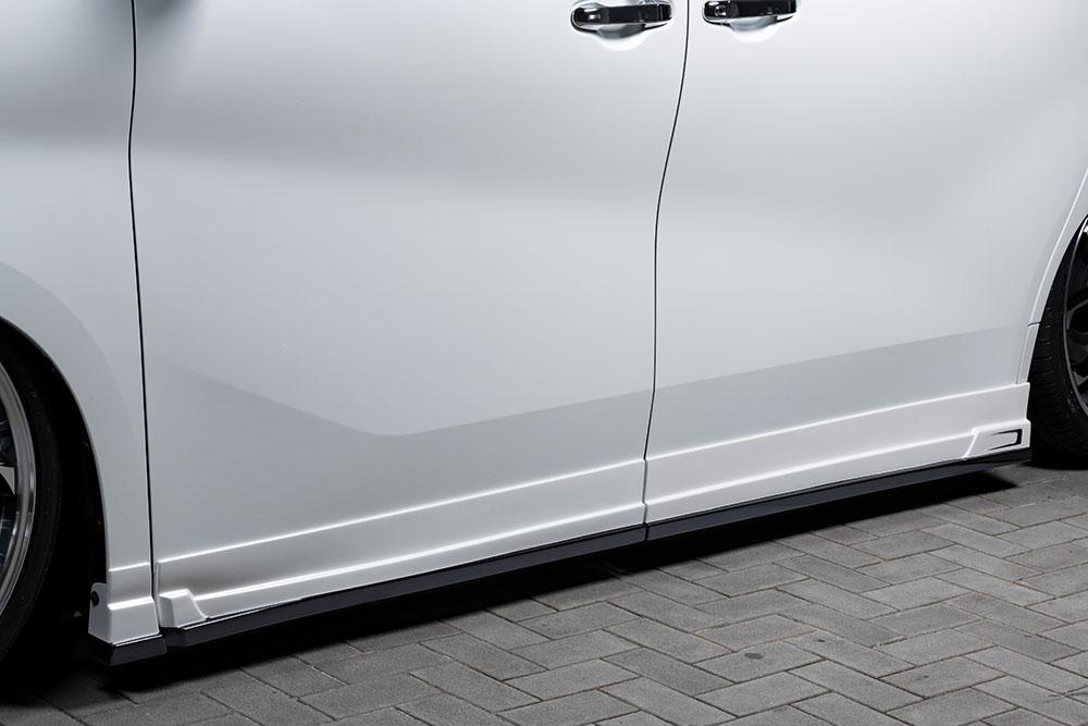 エムズスピード ヴェルファイア ヴェルファイアハイブリッド 30系 後期 サイドステップ 単色塗装済み 3042-2111 グレースライン ゼウス
