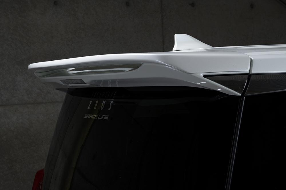 エムズスピード ヴェルファイア ヴェルファイアハイブリッド 30系 後期 リアウィング ウイング 単色塗装済み 3042-5111 グレースライン ゼウス