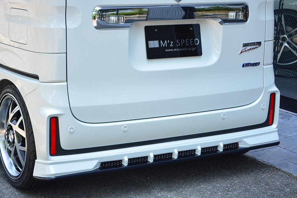 エムズスピード スペーシア カスタム MK53S リアアンダースポイラー 未塗装 3142-3112 グレースライン ゼウス