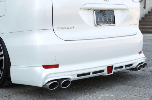 エムズスピード エスティマ ACR GSR リアアンダースポイラー 塗装済 3062-3141-070/3062-3141-202 グレースライン ゼウス