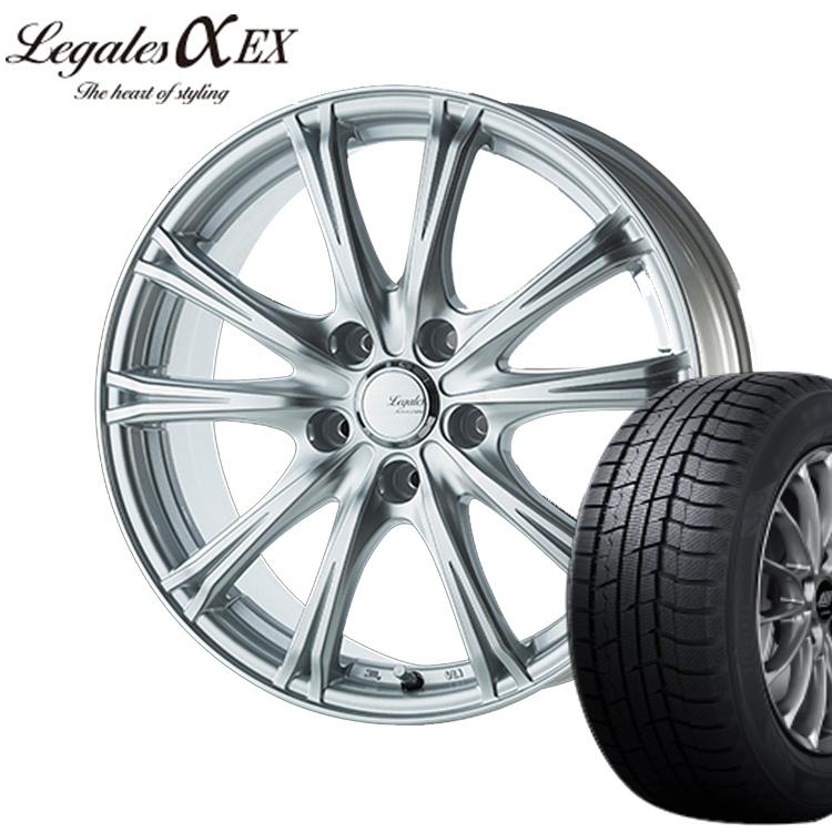 185/60R15 185 60 15 ウィンターマックス WM02 ダンロップ スタッドレス タイヤホイールセット 4本 1台分 リーガレス 15インチ 4H100 5.5J+50 LEGALESα EX