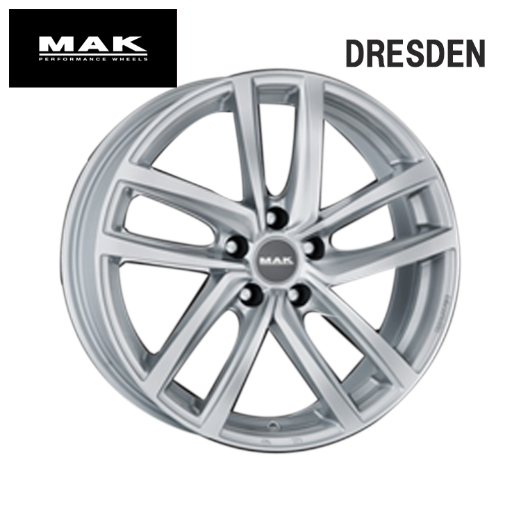 16インチ 5H112 6.5J+33 5穴 DRESDEN ホイ-ル 4本 1台分セット ガンメタリックミラー MAK ドレスデン