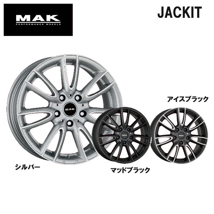 17インチ 4H100 5.5J+46 4穴 JACKIY ホイ-ル 1本 マットブラック MAK ジャッキー
