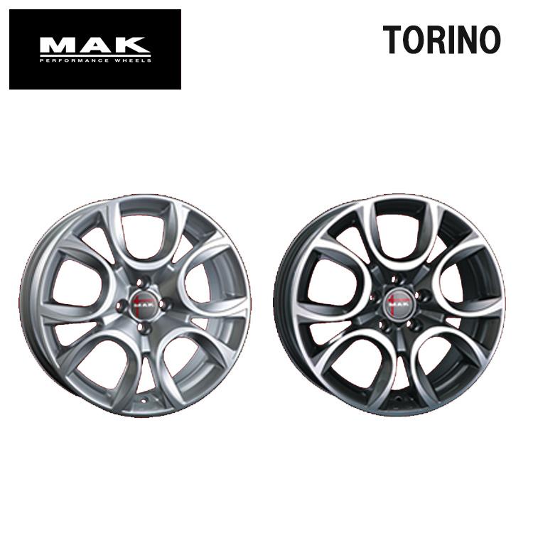 14インチ 4H98 5.5J+35 4穴 TORINO ホイ-ル 4本 1台分セット シルバー MAK トリノ