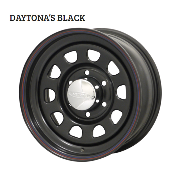 15インチ 6H139.7 7.0J 7J+12 6穴 デイトナブラック ホイール 4本 1台分セット MORITA DAYTONA'S BLACK ブラック 欠品中納期未定