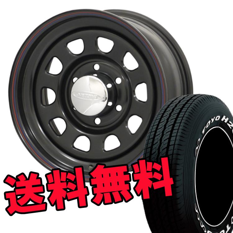 ハイエース200 15インチ TOYO H20 4本 195/80R15 195 80 15 タイヤ ホイール セット DAYTONA'S BLACK 6H139.7 6.5J+40 MORITA
