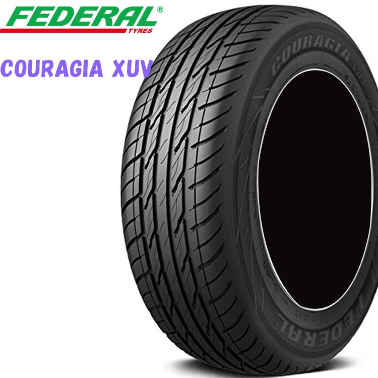 P225/55R18 98V 18インチ 4本 夏 SUV/4WDタイヤ フェデラル クーラジアXUV FEDERAL COURAGIA XUV