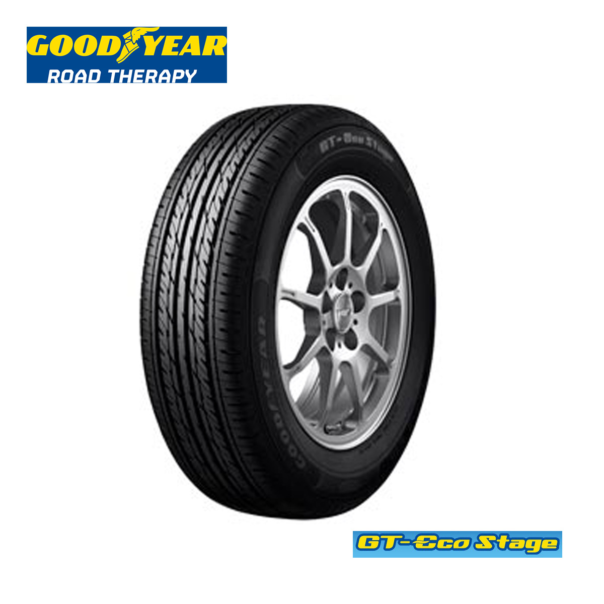 グッドイヤー16インチタイヤ205/55R162055516GT-EcostageGTエコステージサマータイヤ2本Goodyear低燃費夏国産