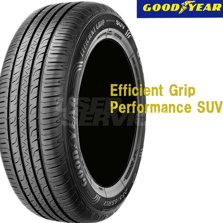 夏 低燃費タイヤ グッドイヤー 18インチ 4本 225/55R18 98V エフィシエントグリップ パフォーマンス SUV 05620066 GOODYEAR EfficientGrip performance SUV
