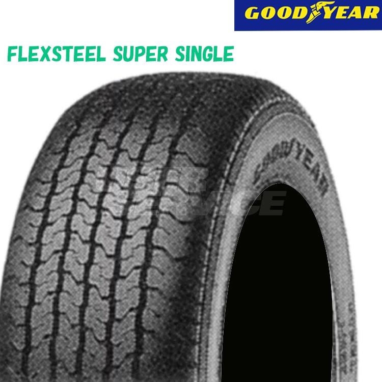 タイヤ グッドイヤー 13.5インチ 4本 235/50R13.5 102L フレックススチール スーパー シングル 10A03140 GOODYEAR FLEXSTEEL SUPER SINGLE