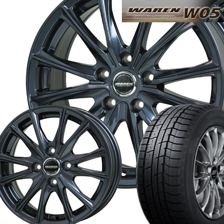 1本 15インチ TOYO ウィンタートランパス TX 165/55R15 165 55 15 スタッドレスタイヤ ホイールセット 4H100 4.5J+45 ヴァーレン W05