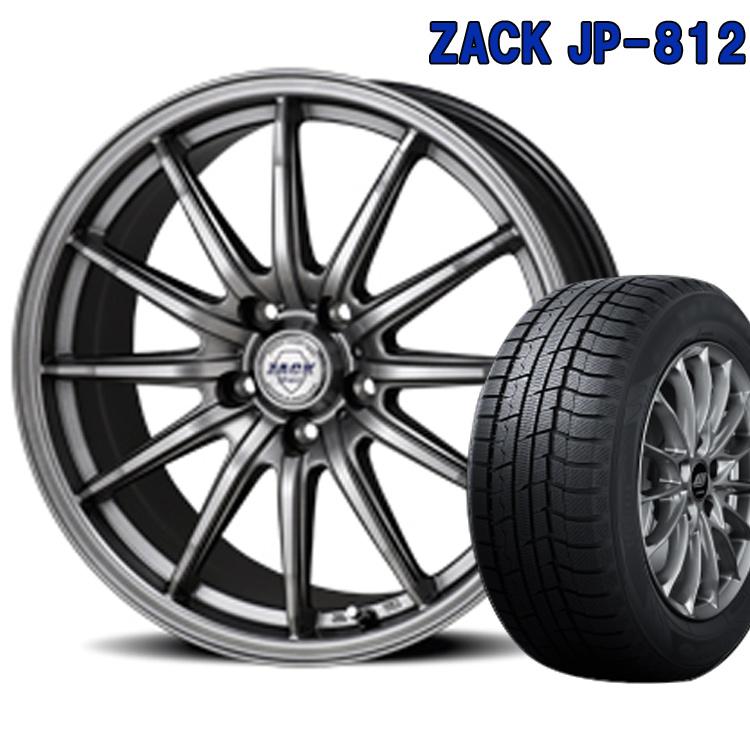 ダンロップ 205/50R17 205 50 17 ウィンターマックス02 スタッドレスタイヤ ホイールセット 4本 1台分セット ザック JP812 17インチ 5H100 7.0J+48 ZACK JP 812 ジャパン三陽