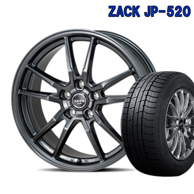 ダンロップ 205/55R16 205 55 16 ウィンターマックス02 スタッドレスタイヤ ホイールセット 4本 1台分セット ザック JP520 16インチ 5H100 6.5J+48 ZACK JP 520 ジャパン三陽