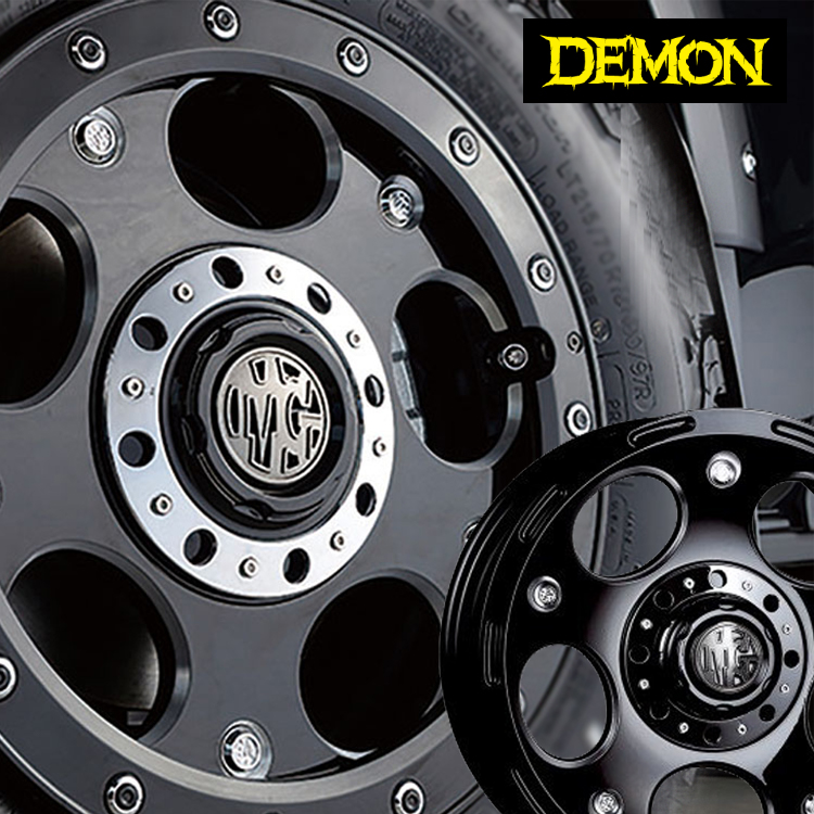 17インチ 6H139.7 8.0J 8J+20 6穴 クリムソン デーモン ホイール 1本 CRIMSON MG DEMON ブラックサイドマシニング 個人宅発送追金有