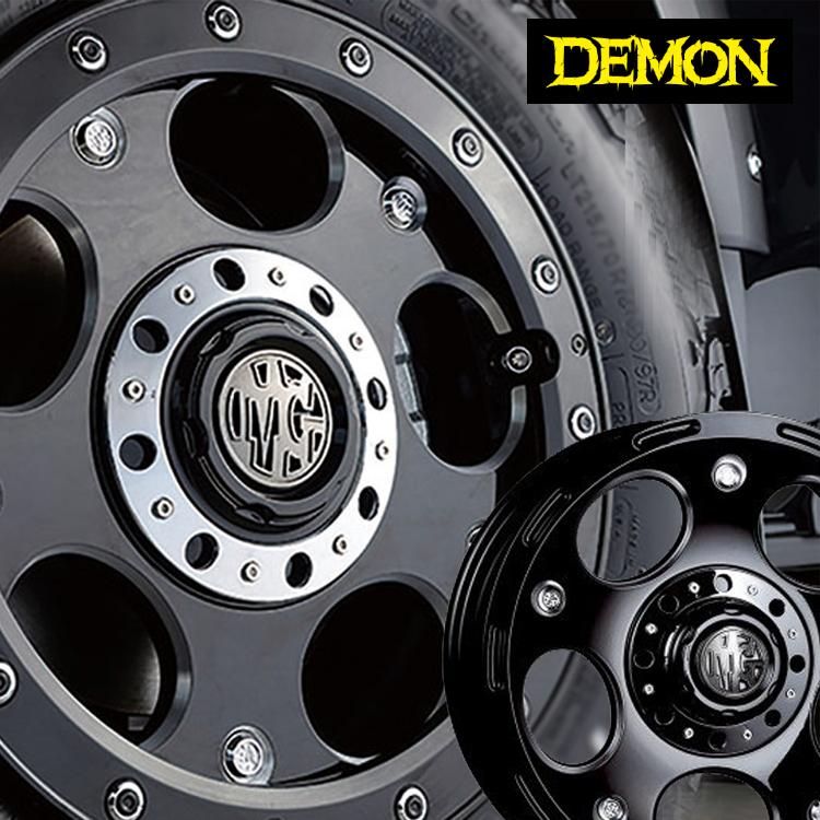 16インチ 6H139.7 8.0J 8J+28 6穴 クリムソン デーモン ホイール 4本 1台分セット CRIMSON MG DEMON ブラックサイドマシニング 個人宅発送追金有