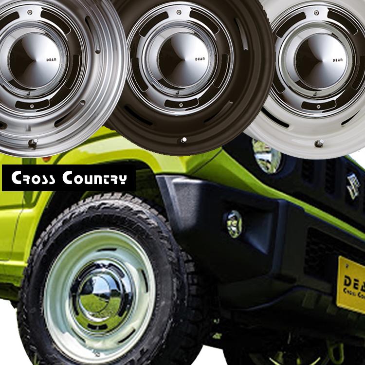 16インチ 5H127 6.5J+15 5穴 クリムソン クロスカントリー ホイール 4本 1台分セット CRIMSON DEAN Cross Country ホワイト/ブラック/グレー 個人宅発送追金有