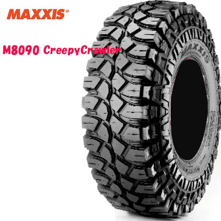 16インチ 37X12.50-16 LT 124L 8PR 4本 ブラックサイドウォール バイアスタイヤ マキシス MAXXIS M8090 Creepy Crawler 個人宅追加金有 要在庫確認