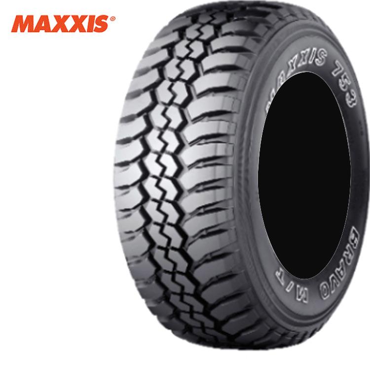 14インチ 185R14 C 102/100Q 8PR 4本 ブラックサイドウォール 4WDラジアルタイヤ マキシス ブラボーシリーズ MAXXIS MT-753 BRAVO 個人宅追加金有 要在庫確認