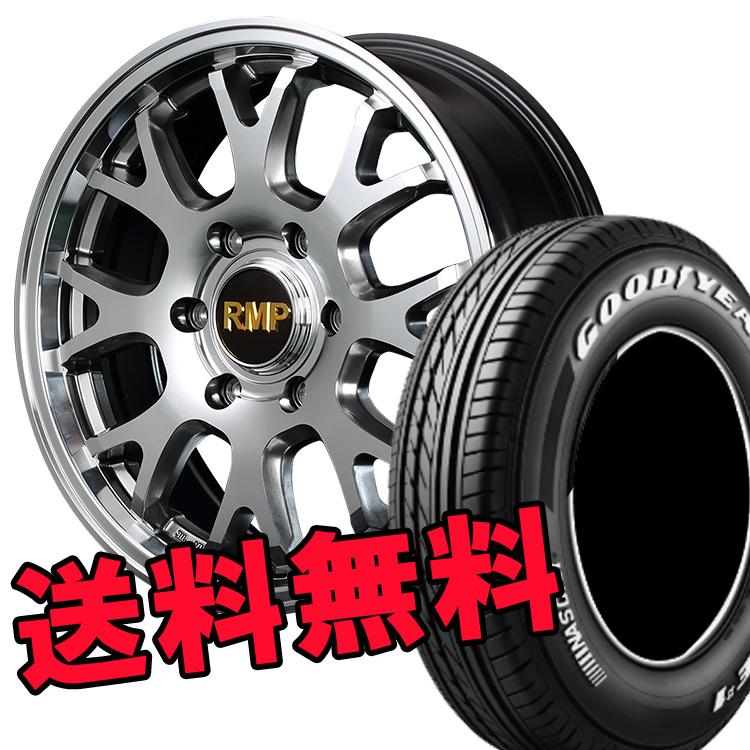 ハイエース用 17インチ グッドイヤー イーグルナスカー 4本 215/60R17 215 60 17 タイヤ ホイール セット RMP028FX 6H139.7 6.5J+38 MID