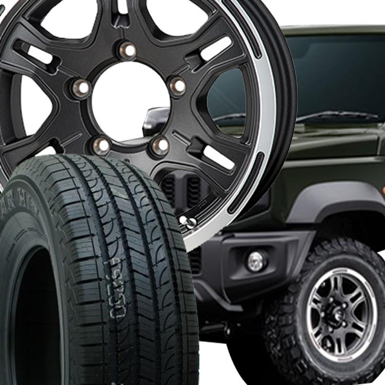 ジムニーシエラ用 15インチ ヨコハマ ジオランダーHT G056 4本 195/80R15 195 80 15 タイヤ ホイール セット HI-BLOCK REXX 5H139.7 6.0J 6J+0 MONZA JAPAN
