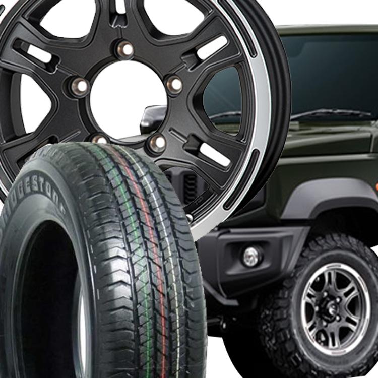 ジムニーシエラ用 15インチ ブリヂストン デュ-ラー H/T684 4本 195/80R15 195 80 15 タイヤ ホイール セット HI-BLOCK REXX 5H139.7 6.0J 6J+0 MONZA JAPAN