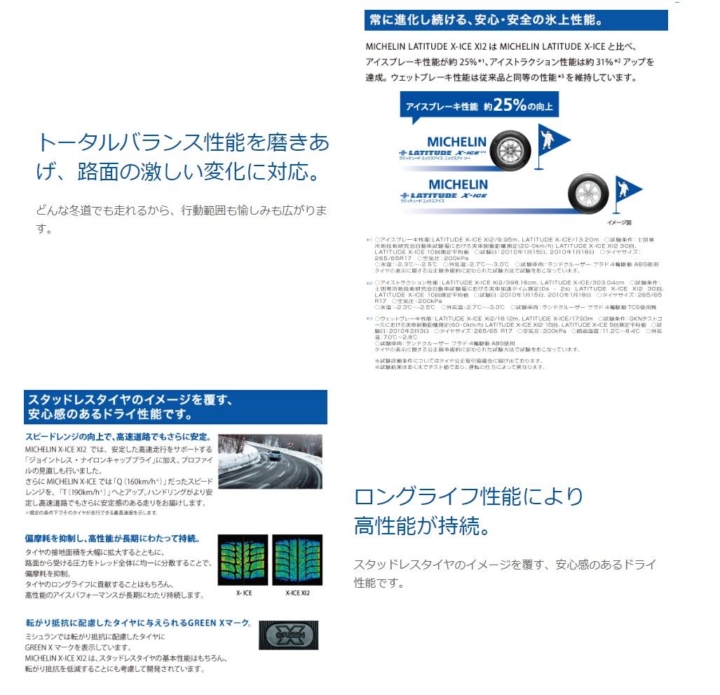 スタッドレスタイヤミシュラン16インチ4本235/70R16106TラティチュードエックスアイスXI2SUV用スタットレスタイヤチューブレスタイプ031270MICHELINLATITUDEX-ICEXI2