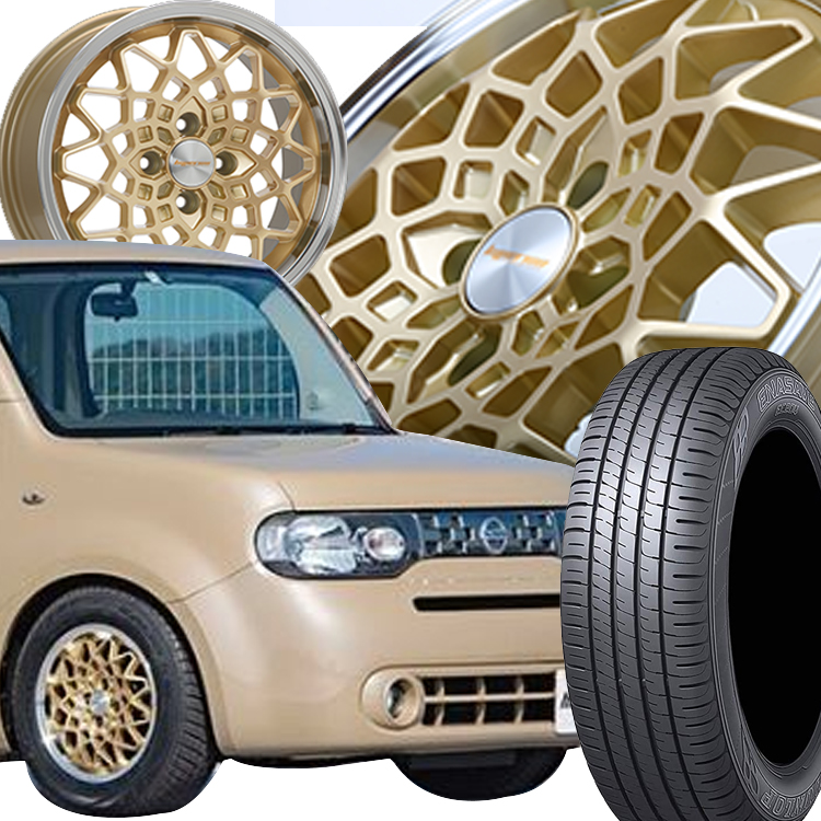 165/55R15 165 55 15 エナセーブEC204 DUNLOP ダンロップ タイヤ ホイール セット エムエルジェイ ハイペリオン カルマ 4本 1台分セット 15インチ 4H100 5.0J 5J HYPERION CALMA