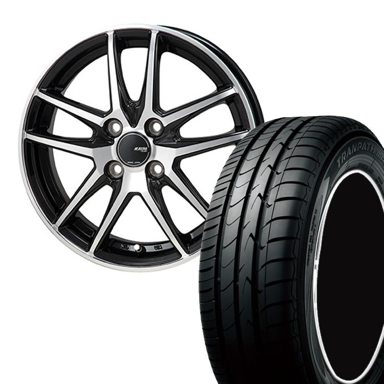 195/60R16 195 60 16 トランパスmpZ TOYO トーヨー タイヤ ホイール セット モンツァジャパン JP スタイル グリッド 4本 16インチ 5H114.3 6.5J JP STYLE GRID