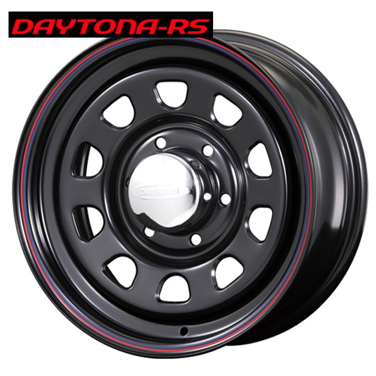 16インチ 6H139.7 6.5J+38 6穴 デイトナRS ホイール 4 本 1台分セット ブラック(レッド&ブルーライン) エースロードスター DAYTONA-RS Roadster 欠品中納期未定