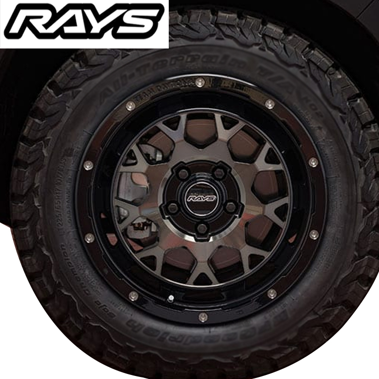 17インチ 5H127 7.0J 7J+40 5穴 レイズ チーム デイトナ M9 ホイール 4本 1台分セット RAYS TEAM DAYTONA m9 ブラック/ディスククリアスモーク jeep
