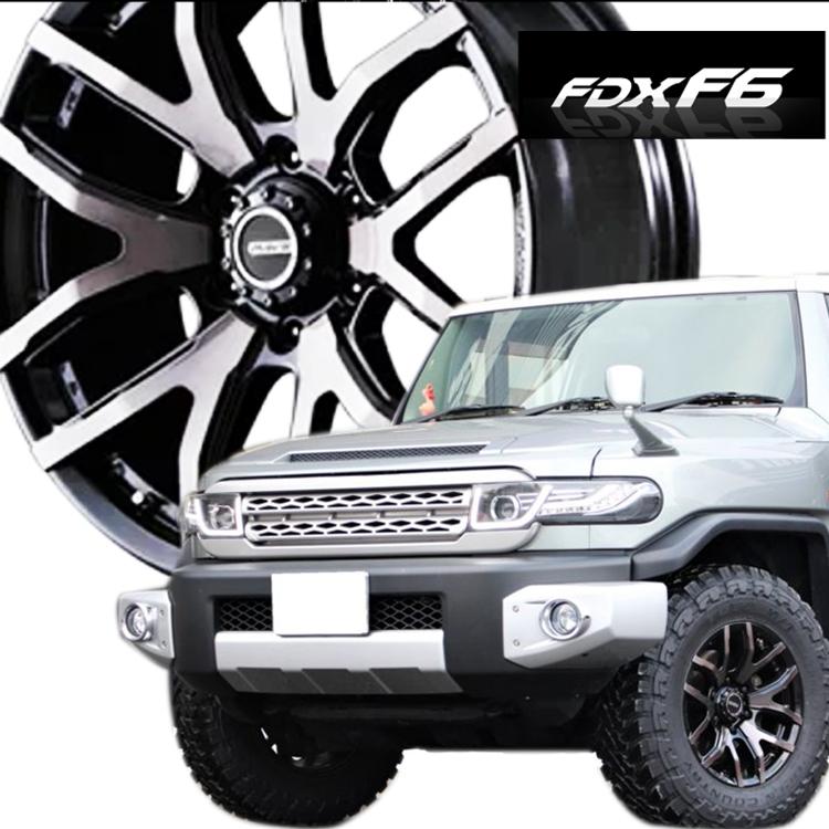 20インチ 6H139.7 8.5J+22 6穴 レイズ デイトナ FDX F6 ホイール 4本 1台分セット RAYS DAYTONA FDX F6 クリアブラック