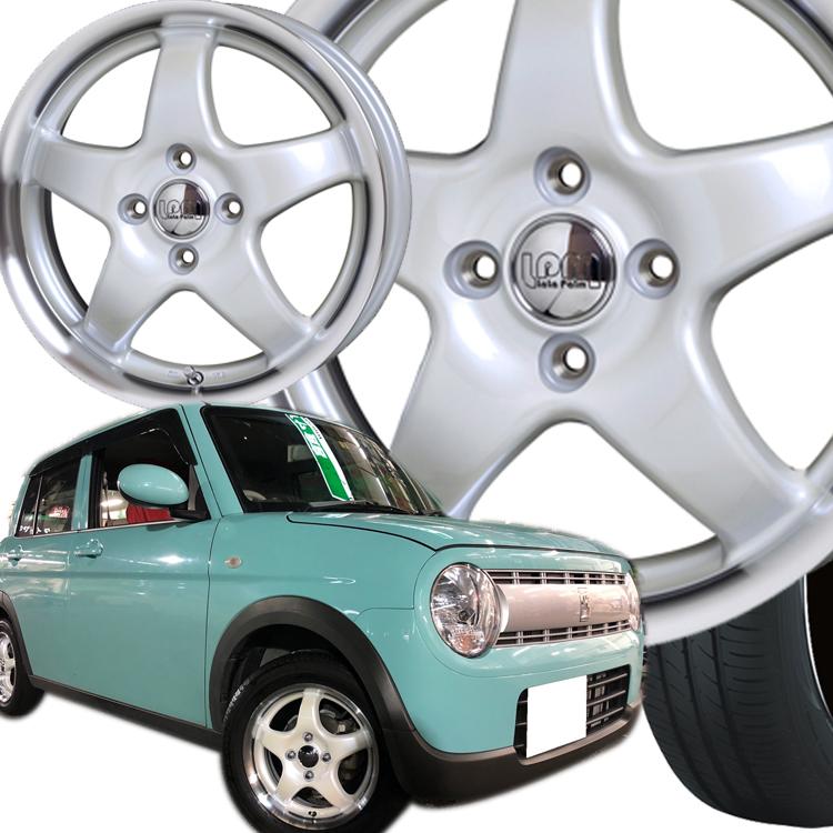 14インチ トランパスLuK 4本 1台分セット 155/65R14 155 65 14 ララパーム スター 4H100 4.5J+45 K-CAR エコタイヤ ホイールセット TOYO ホットスタッフ