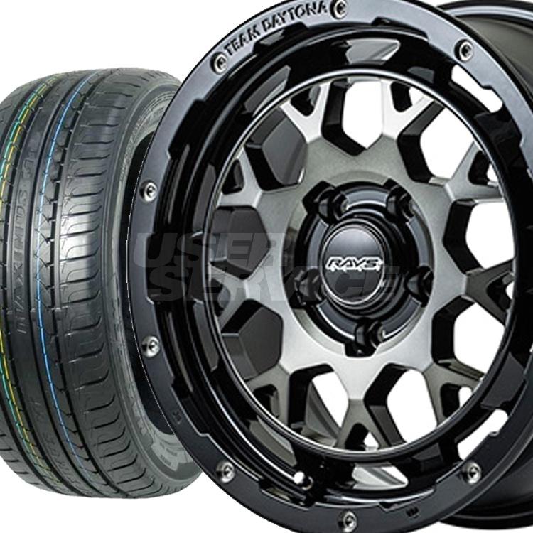 プラド・ハイラックス 17インチ 特選輸入タイヤ 4本 LT285/70R17 / LT285 70 17  タイヤ ホイール セット TEAM DAYTONA m9 6H139.7 8.0J 8J+20 RAYS