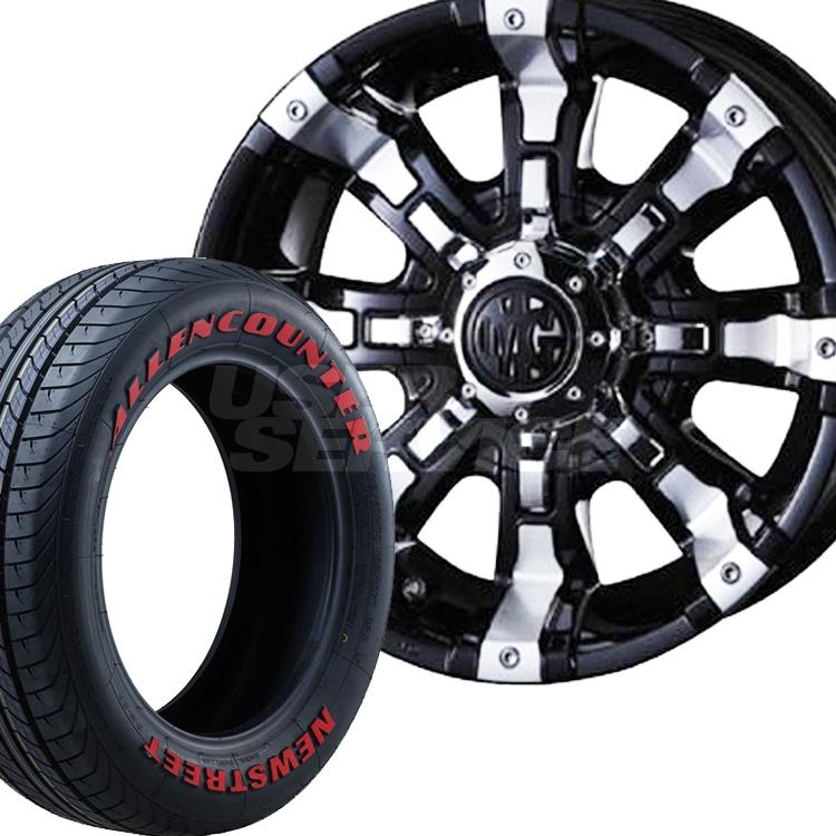 ハイエース用 17インチ オーレンカウンター レッドレター 4本 215/60R17 215 60 17 タイヤ ホイール セット MG ビースト 6H139.7 7.0J 7J+38 クリムソン