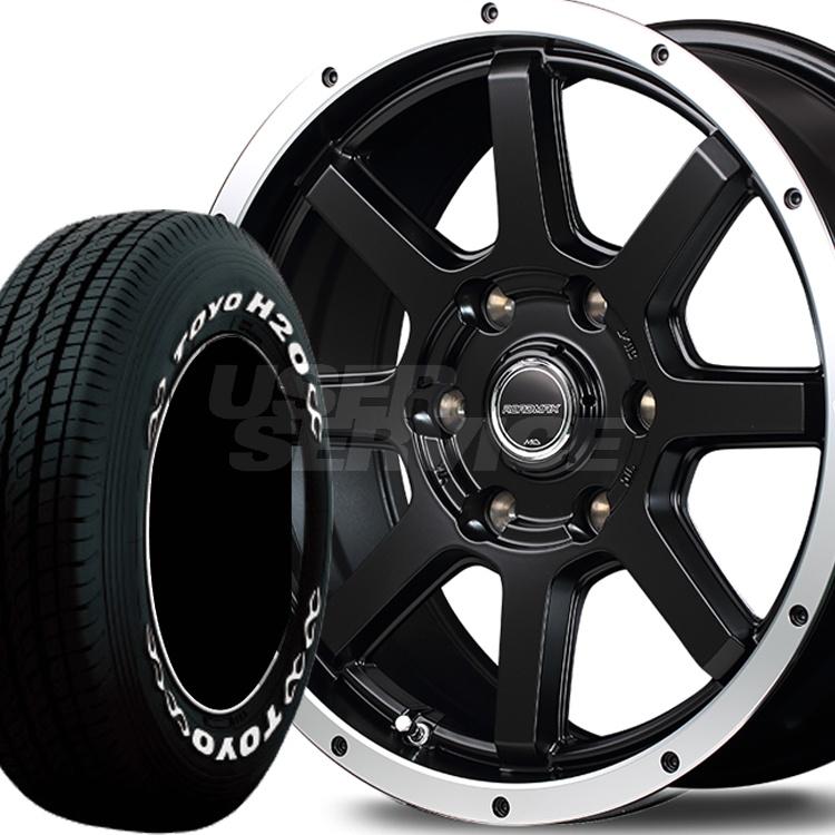 ハイエース用 15インチ TOYO H20 4本 195/80R15 107/105L タイヤ ホイール セット ロードマックス WF-8 6H139.7 6.0J 6J+33 MID