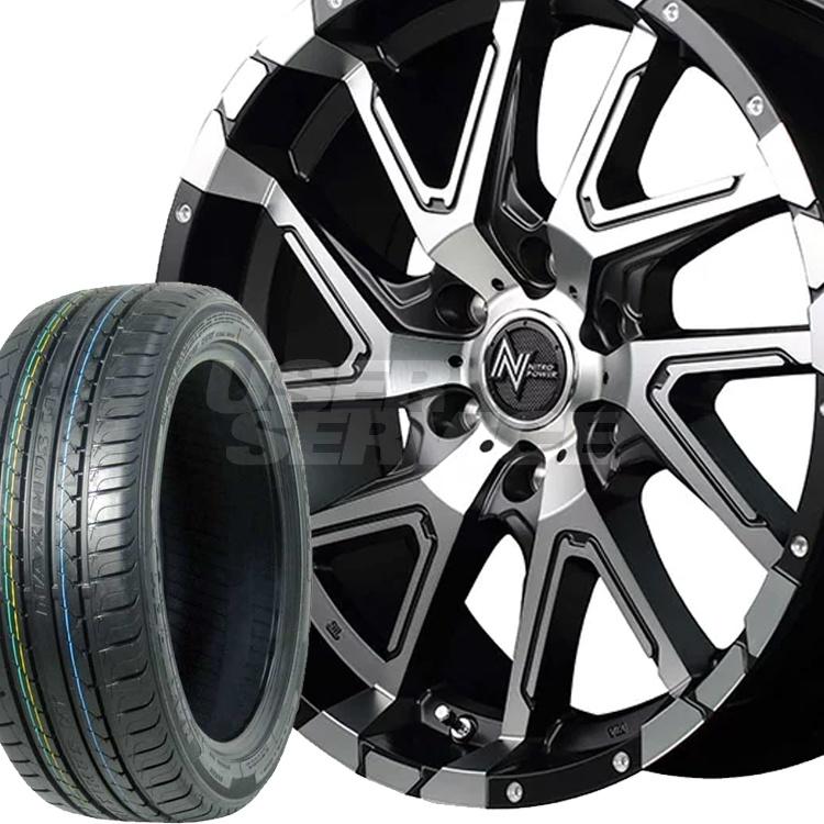 150系プラド・ハイラックス用 17インチ 特選輸入タイヤ 4本 LT285/70R17 / タイヤ ホイール セット ナイトロパワー デリンジャー 6H139.7 8.0J 8J+20 MID