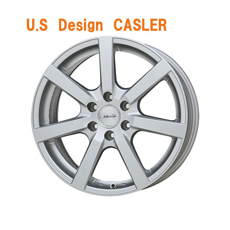 18インチ 5H127 8.0J 8J+50 5穴 CASLER ホイール 1本 シルバー U.S Design キャスラー