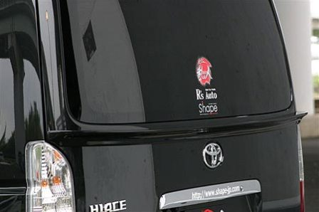 乱人 ハイエース 200系 前期・後期 リアゲートスポイラー 未塗装 RANDO