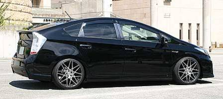 乱人 プリウス ZVW30 サイドステップスポイラー 未塗装 RANDO Black Edition