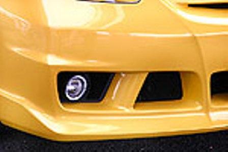 乱人 フィット GD1~4 フロントバンパー(フォグランプ・カバー付) 未塗装 RANDO Black Edition