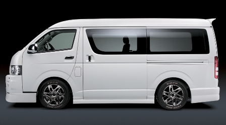 シルクブレイズ ハイエース KDH/TRH20・21・22 SUPER GL(ワイド) サイドステップ 未塗装 ミニバンシリーズ