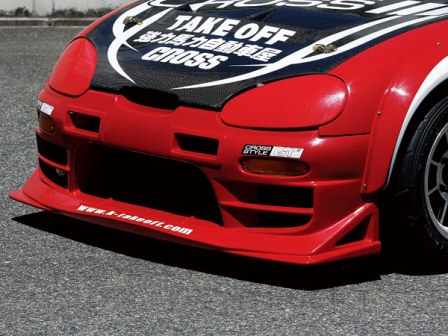 テイクオフ カプチーノ EA11R EA21R フロントバンパースポイラー GT FRP クロススタイル TAKE OFF 配送先条件有り