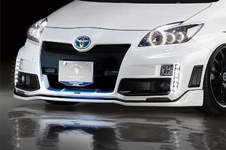 ROWEN ロウェン プリウス ZVW30 前期 フロントバンパー RR-GT/LED有り 未塗装 ECO-SPO Edition1T001A20 トミーカイラ