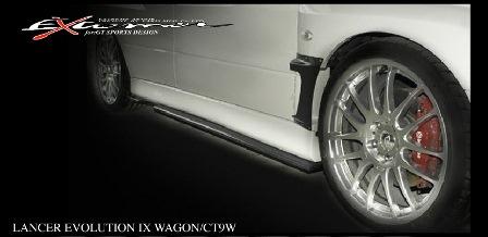 VARIS バリス ランサーエボリューションワゴン ランエボ ワゴン CT9W IX/MR/IXワゴン サイドディフューザー カーボン VAMI-139