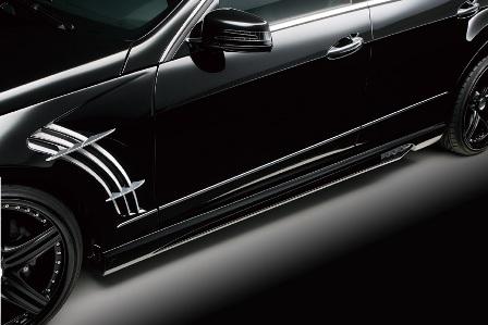 WALD ヴァルド Sports Line Black Bison Edition メルセデス・ベンツ W212 E class サイドステップ FRP製