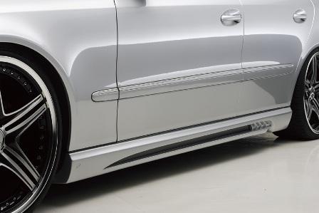 WALD ヴァルド Sports Line Black Bison Edition メルセデス・ベンツ W211 E class ワゴン サイドステップ FRP製