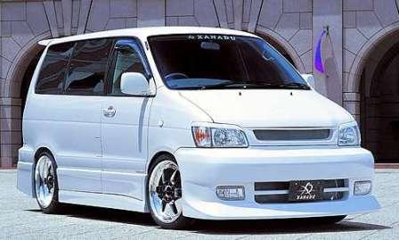 XANADU ザナドゥー ノア SR40 50 前期 サイドステップ+ドアパネル 未塗装 エアロシリーズ