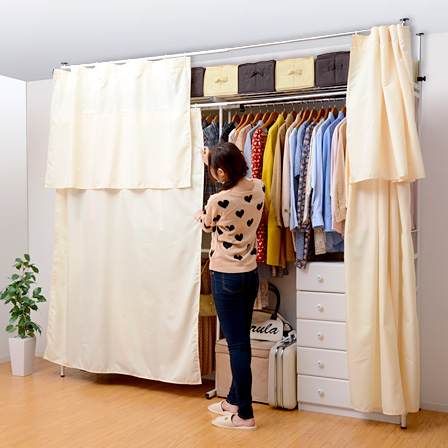 Closet hangers hanger rack telescopic taut prop storage two-stage hung with curtains covered coat hangers clothes storage pole hanger pipe hanger share-out ... & singlelife | Rakuten Global Market: Closet hangers hanger rack ...
